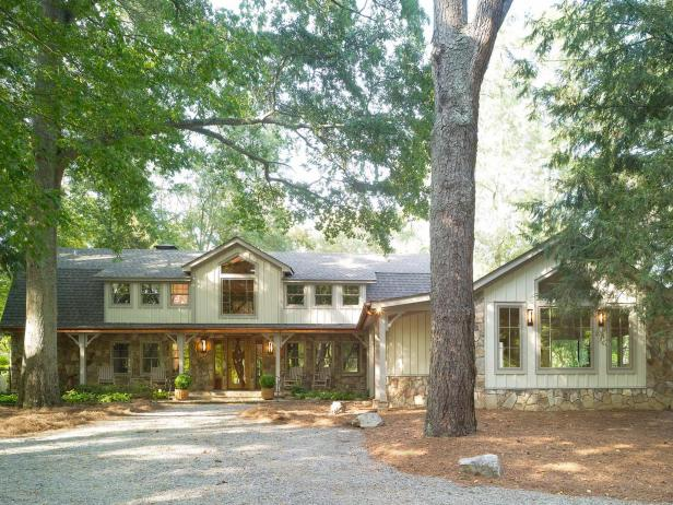 After: Country Lodge with Renovated Exterior