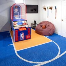 Basketball Arcade in Basement