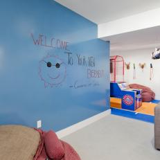 Creative Play Space in Basement Playroom