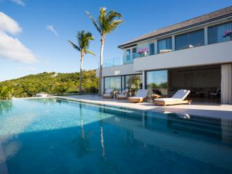 Swimming Pool: Seaside Villa in Saint Barthelemy