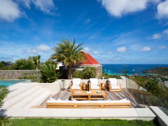 Poolside Deck: Seaside Villa in Saint Barthelemy