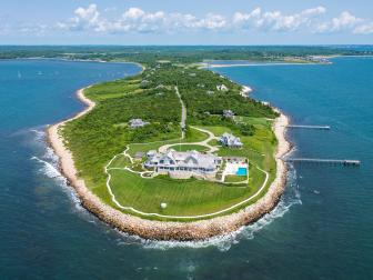 Aerial View: Cape Cod Estate on Buzzards Bay in Dartmouth, Mass.