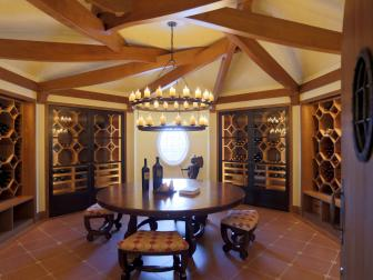 Wine Cellar: Cape Cod Estate on Buzzards Bay in Dartmouth, Mass.