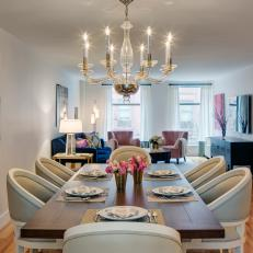 Living And Dining Room Combination Manifests Stylish Comfort