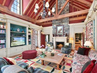 Living Room: Georgian Mansion in Chappaqua, New York