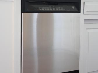 Dishwasher With Stainless Steel Decal