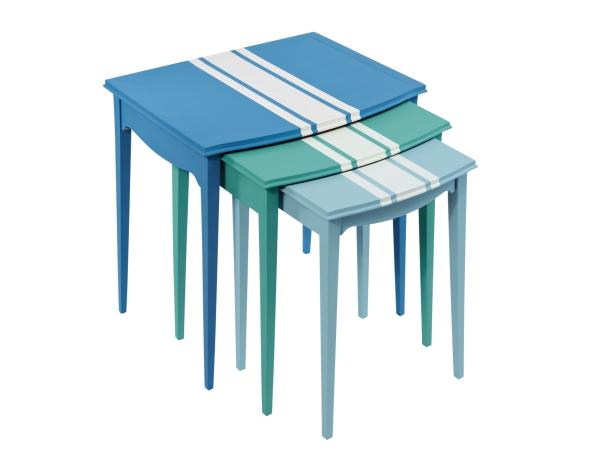 Racing Stripe Nesting Tables