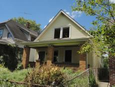 Wright Street Home Exterior, Before