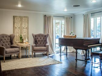 Fixer Upper: Elegant Remodeled Sitting Room