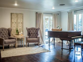 Fixer Upper: Elegant Remodeled Sitting Room