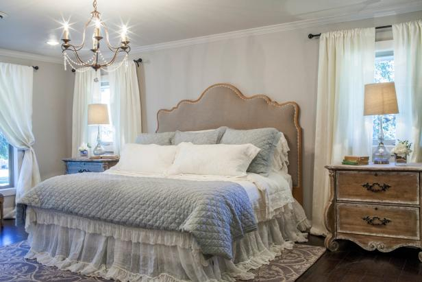 Fixer upper remodeled bedroom with feminine touch hgtv Fixer upper master bedroom pictures