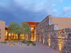 Gorgeous Contemporary Home with Southwestern Garden