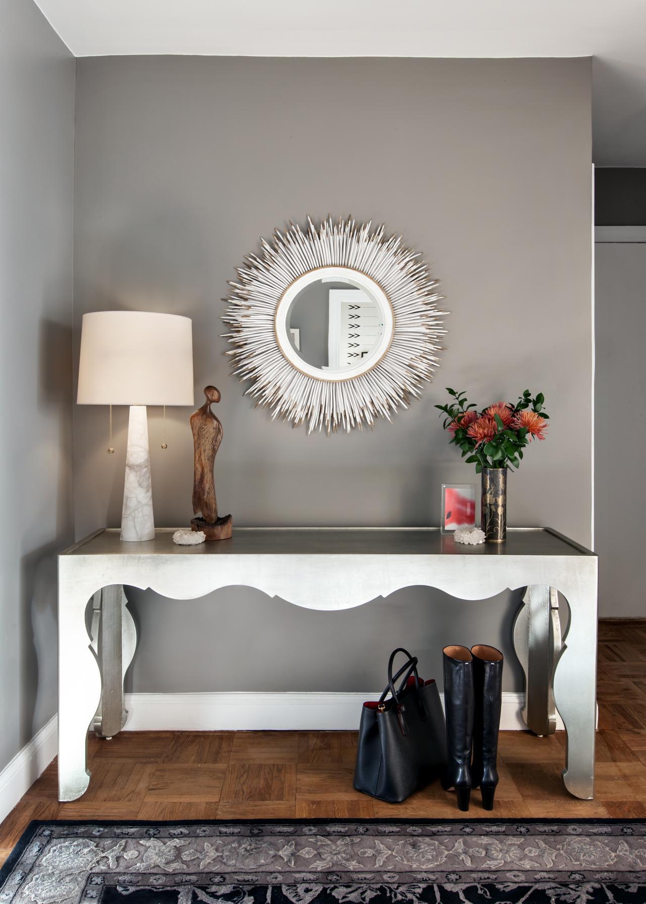 آینه کنسول سفید