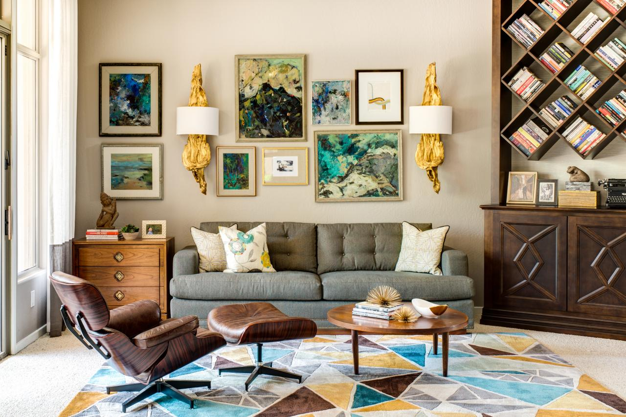 Living room decorating and design ideas with pictures hgtv Living room art
