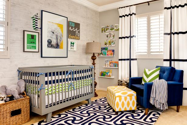 Gorgeous Eclectic Boy's Nursery With Bold Graphic Designs