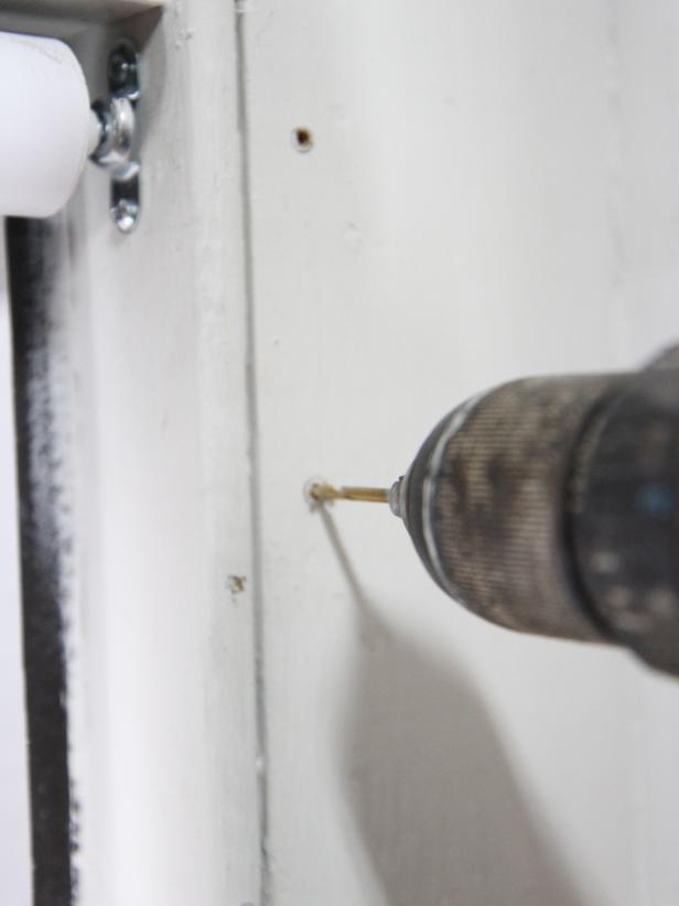 Pre drill holes using a ¼â drill bit.