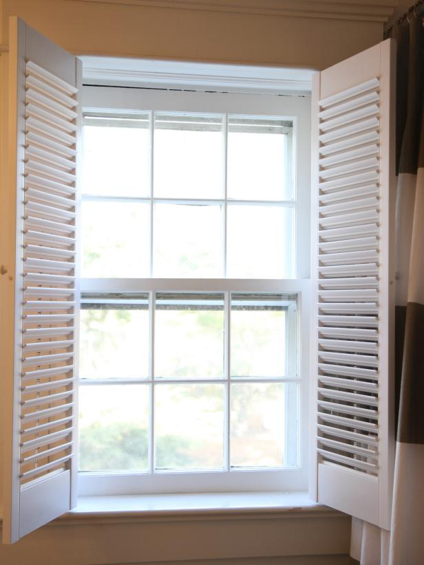 How to install interior plantation shutters how tos diy - Types shutters consider windows ...