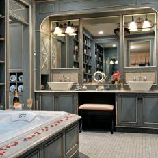 Luxurious Spa Bathroom Oozes French Country Elegance