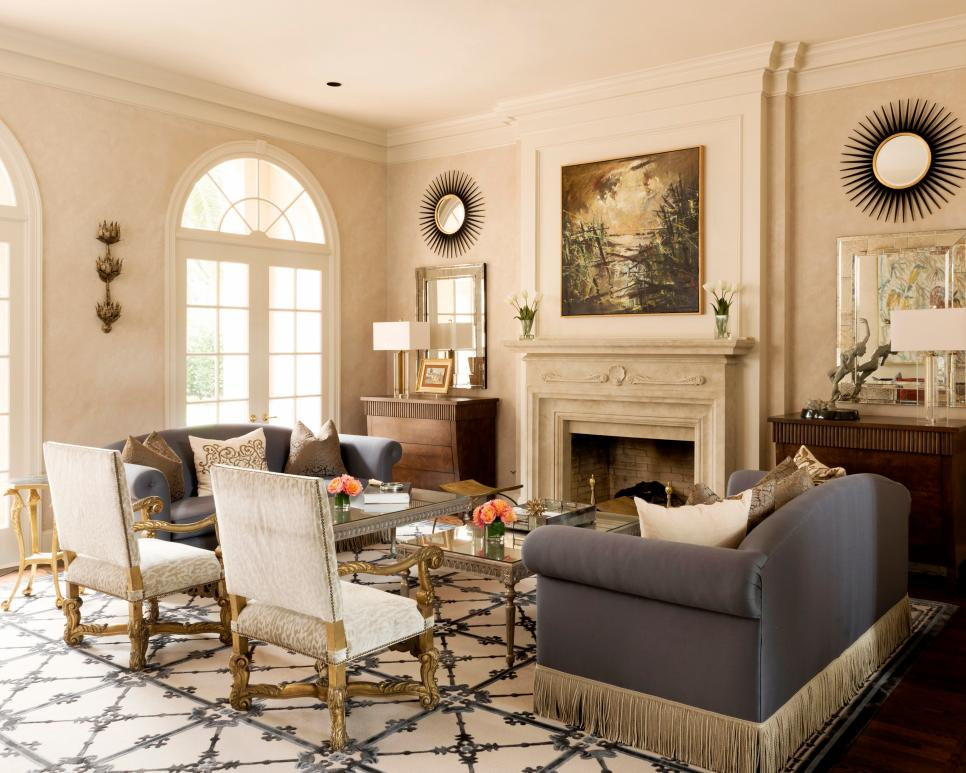 Traditional living and dining rooms with touch of whimsy for Traditional living room