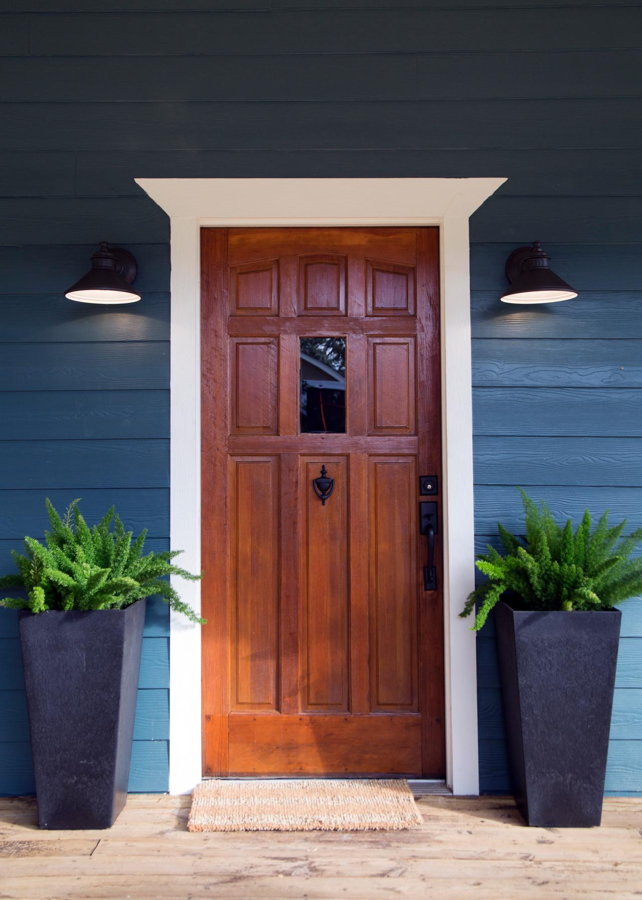 1792 #A34F28 Front Exterior After The Beautifully Refurbished Wooden Front Door  image Farmhouse Front Doors 40331280
