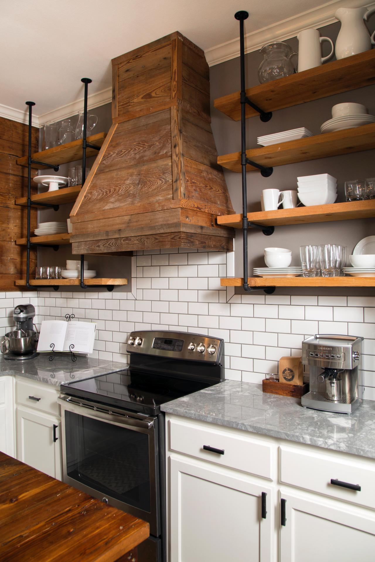 Photos hgtv for Open shelves in kitchen ideas
