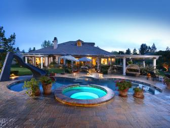 Pool at Night: Traditional Gem in Chatsworth, Calif.