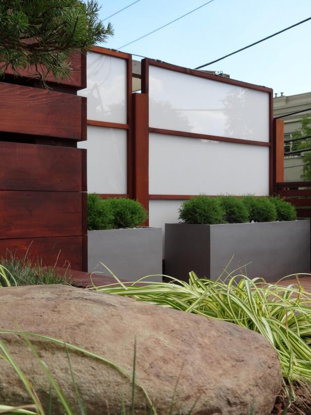 Modern Panel Fence