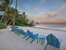 Chairs and Ocean: Beachfront Oasis in Islamorada, Fla.
