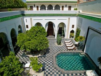 Moroccan Courtyard and Pool is Relaxing, Inviting