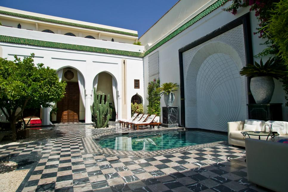 Tour a lavish mansion in marrakech morocco for Moroccan style homes