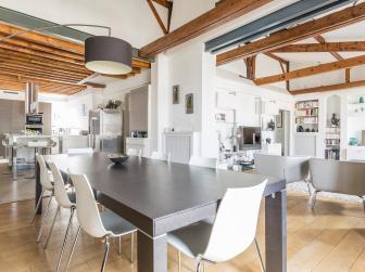 Open Floor Plan Parisian Apartment
