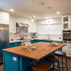 Functional Kitchen Island in Baker's Kitchen