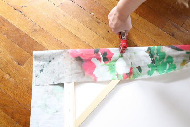 Attaching Fabric to a Canvas