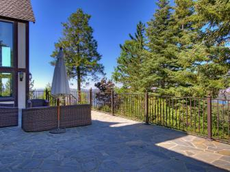 Stone Terrace with Lake Arrowhead Views
