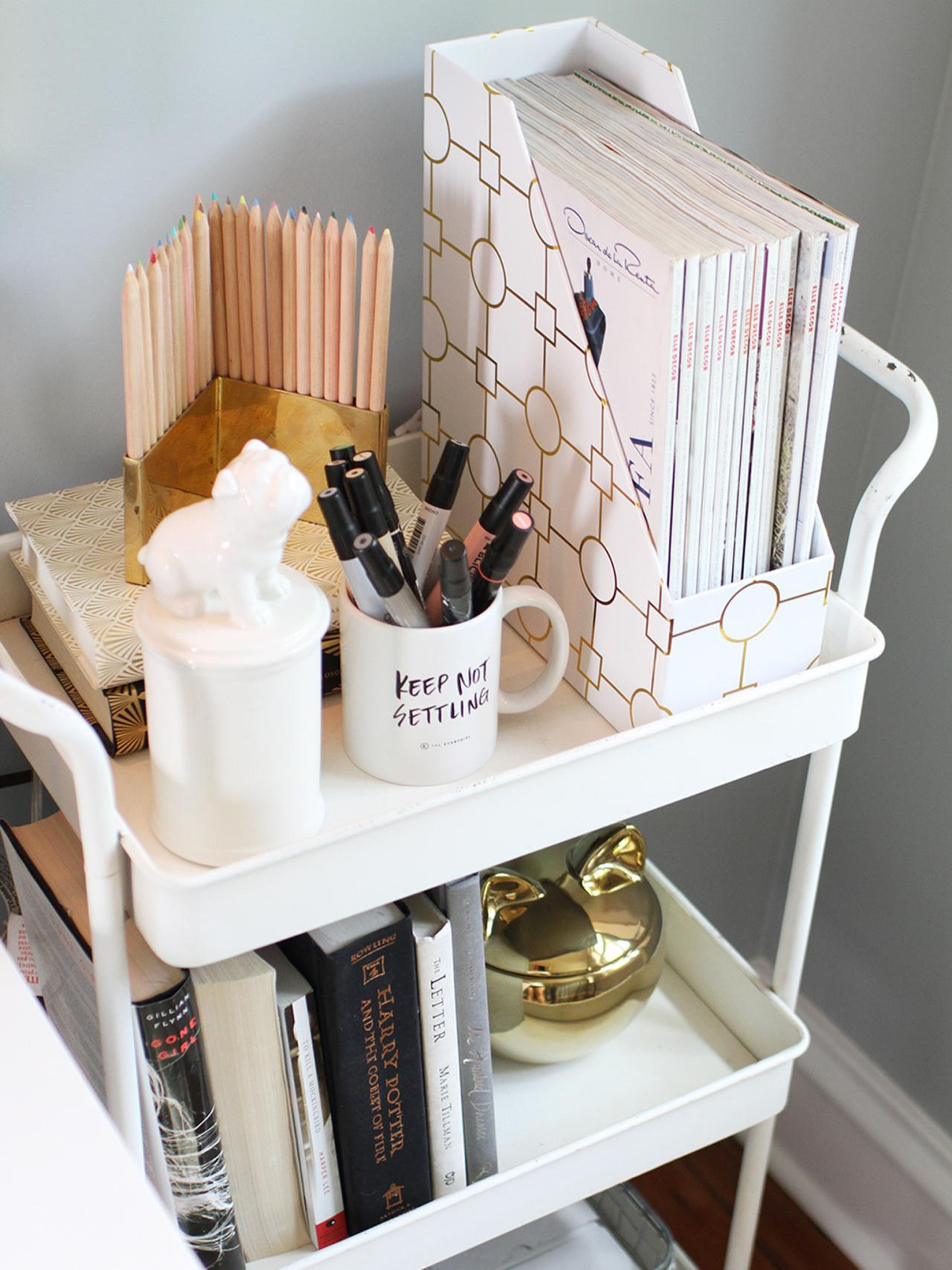 Bar Cart Office Organizer