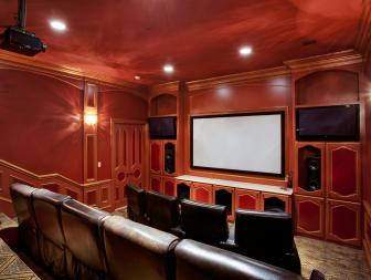 Home Theater: Lavish Mediterranean Masterpiece in Frisco, Texas