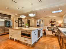 Open Plan Kitchen: Sophisticated Colonial in New Canaan, Conn.
