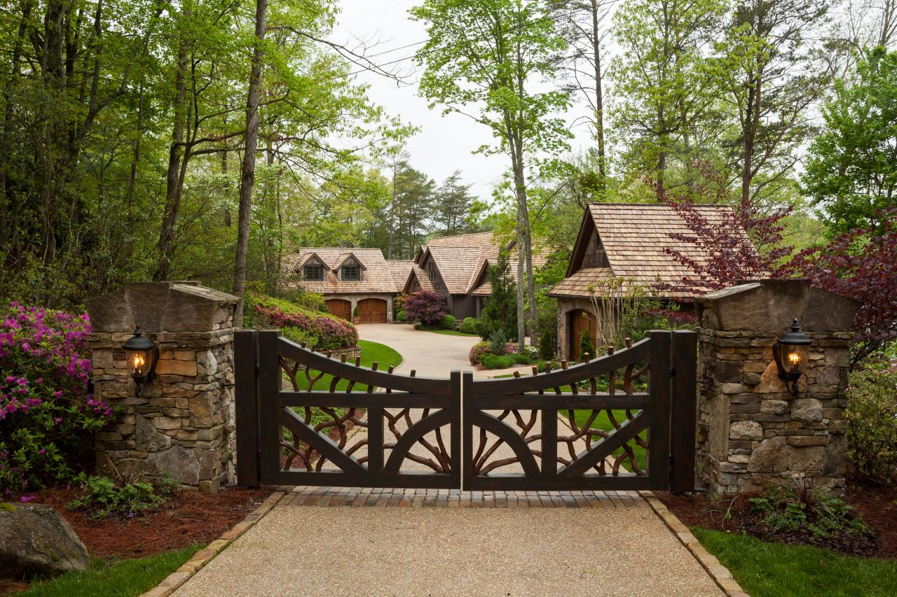 Gate: Luxe Lakefront Cabin In Tiger, Ga on French Country Luxury House Plans
