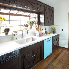 Farmhouse Kitchen with Retro Appliances