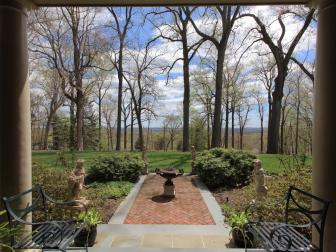 Rear Terrace: Historic Tall Oaks in Bernardsville Boro, NJ