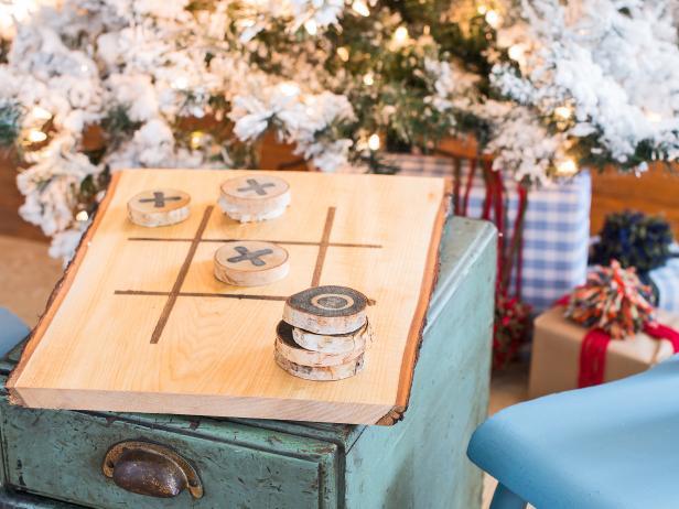 Wood Tic-Tac-Toe Gift Set