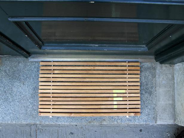 Monogrammed Wood Doormat