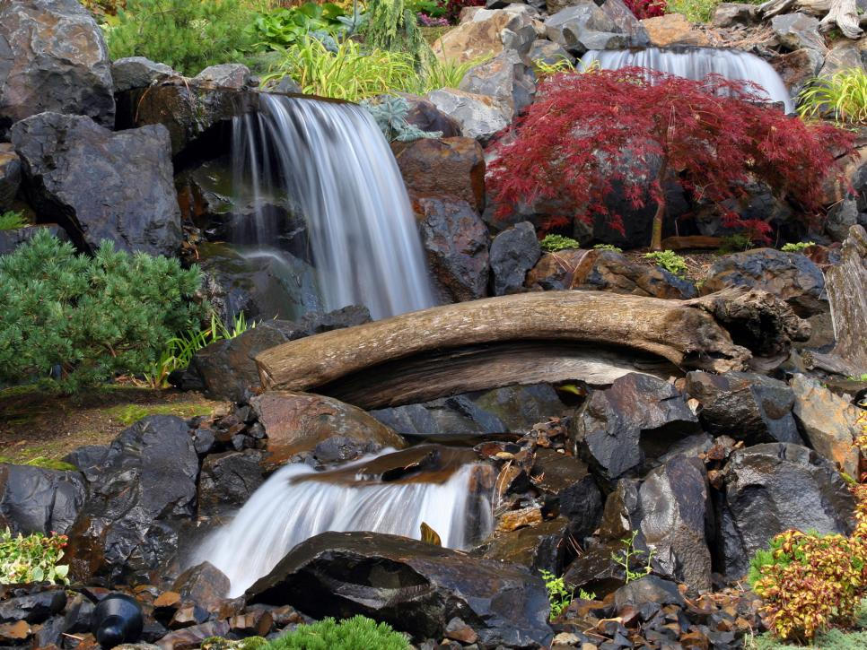 Waterfall designs hgtv Garden waterfall designs
