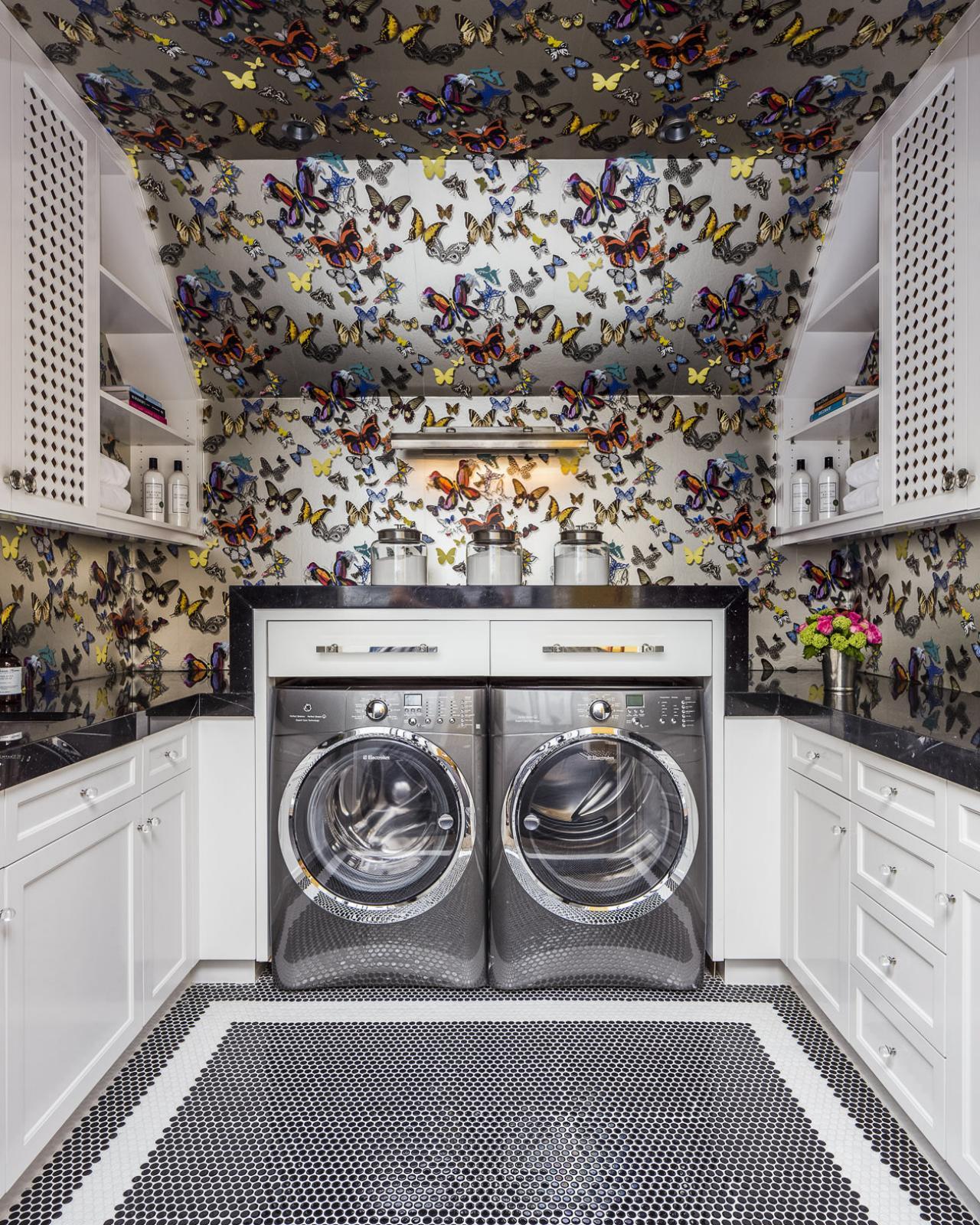 laundry room retro wallpaper - photo #41