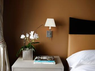 Contemporary Bedroom Features Sienna Walls