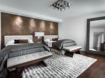 Contemporary Guest Bedroom is Oasis Away From Home