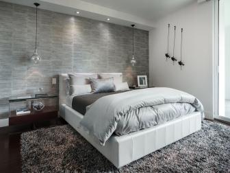 Sophisticated Gray Bedroom is Contemporary, Relaxing