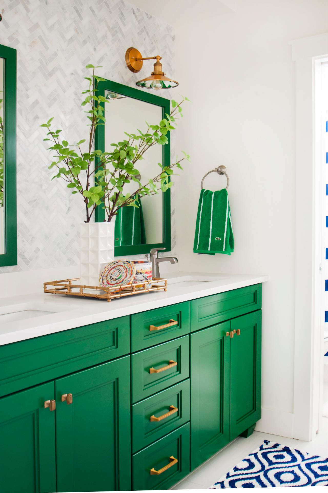 Bathroom Ideas Green 5 fresh bathroom colors to try in 2017 | hgtv's decorating