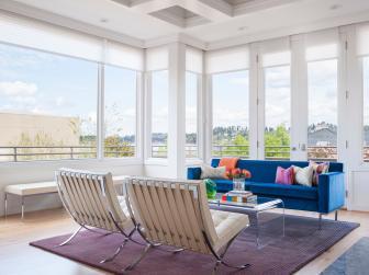 Stunning White Living Room with Panoramic Views