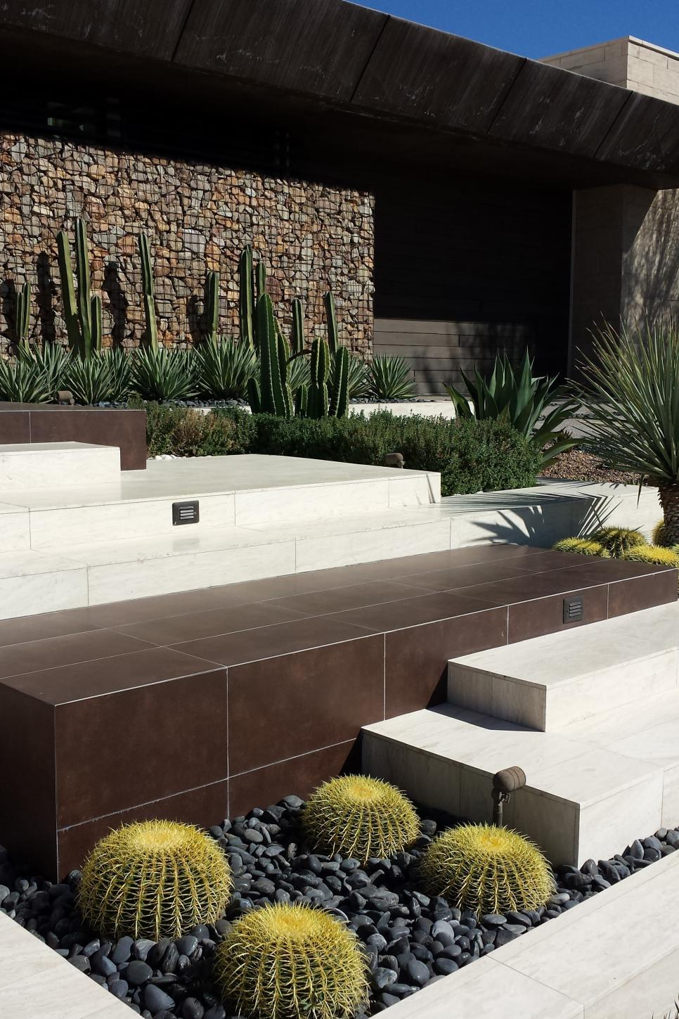 Eco friendly front yard landscaping sage design studios Modern desert landscaping ideas